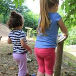 jardín botánico con niños